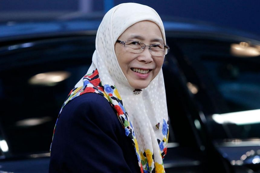 """""""I think (Azmin should) let the new president lead the party. We have actually chosen him (to lead),"""" said Malaysia's Deputy Prime Minister Wan Azizah Wan Ismail."""