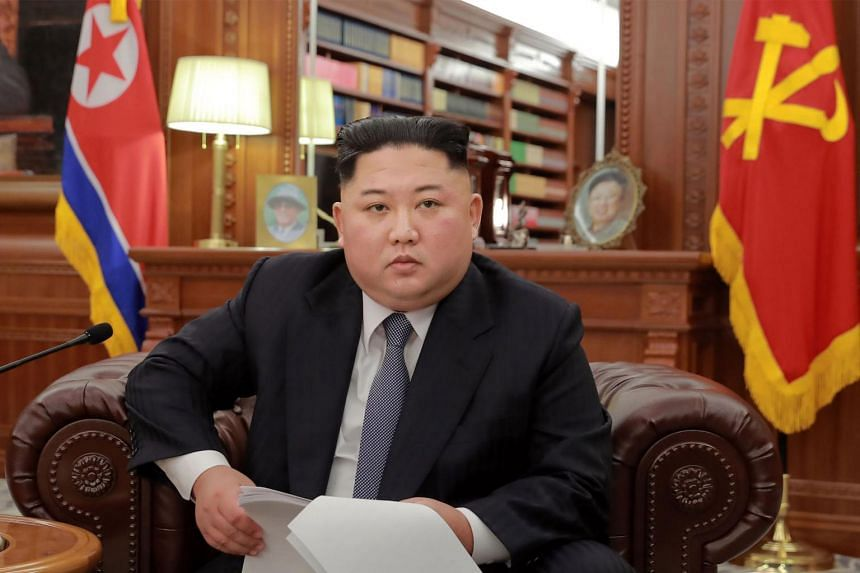 """In his annual New Year's Day address, North Korean leader Kim Jong Un said bilateral ties would propel ahead if the US were to """"respond by taking trustworthy and corresponding, practical action""""."""