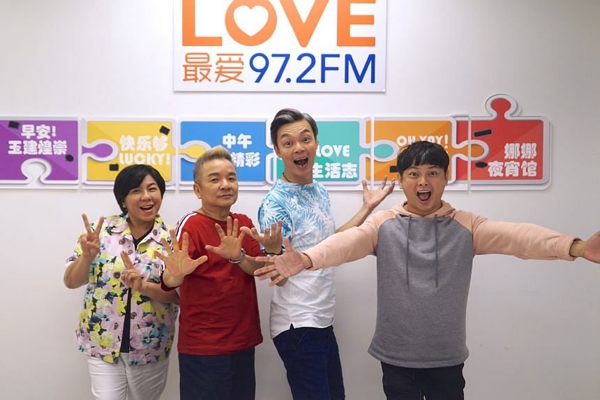 While Make It Big Big is a semibiographical account of the lives of (above from left) radio DJs Chen Biyu, Marcus Chin, Mark Lee and Dennis Chew, it also has relatable issues such as money woes and family drama.