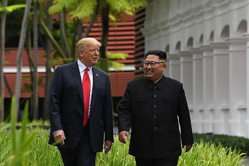 The Singapore summit has improved relations between President Donald Trump and North Korean leader Kim Jong Un, but Mr Kim's demands in his New Year speech were an indicator of how far away they still are from achieving denuclearisation.