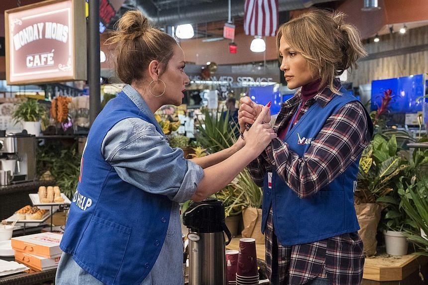 Actresses Leah Remini (left) and Jennifer Lopez, who are real-life friends, share a screen for the first time in the film Second Act.