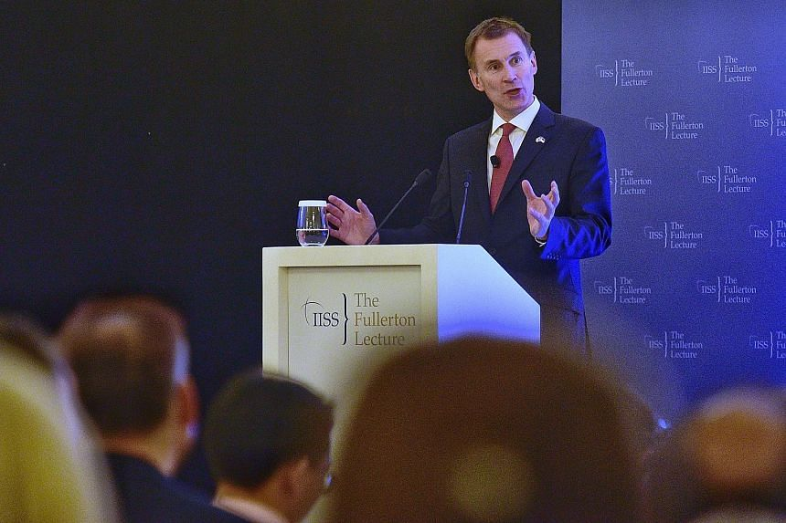 British Foreign Secretary Jeremy Hunt said Singapore's education system, long-term investment in infrastructure and strategic approach to staying competitive in the world hold some lessons for Britain.