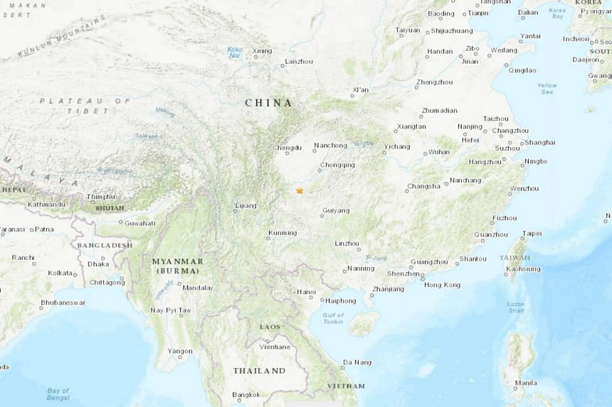 That earthquake that jolted Gongxian county in south-west China's Sichuan province struck at a depth of 15km.