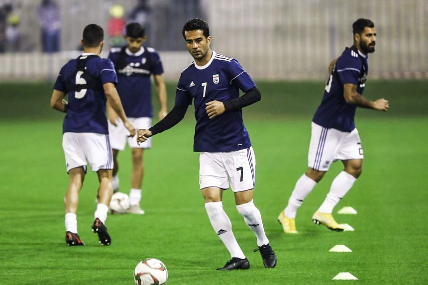 Iran's team at a training session to prepare for the 2019 edition of the AFC Asian cup, in Qatar's capital of Doha, on Dec 21, 2018.