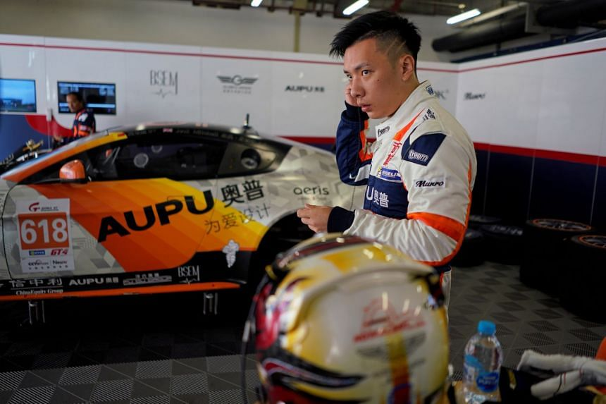 Ryan Liu, 29, of Aston Martin Racing team in the team garage at Shanghai International Circuit in Shanghai, China, on Sept 8, 2018.