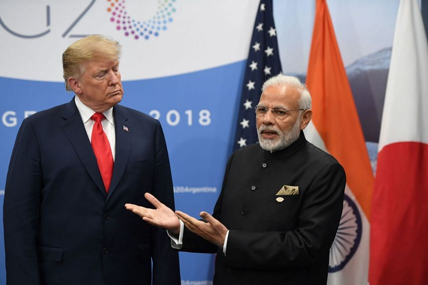 US President Donald Trump mocked India's Prime Minister Narendra Modi's efforts in providing aid in Afghanistan, criticising the proposed library by India.