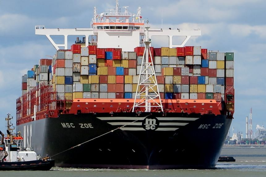The Dutch Coast Guard said up to 270 containers had fallen off the Panamanian-flagged MSC ZOE.