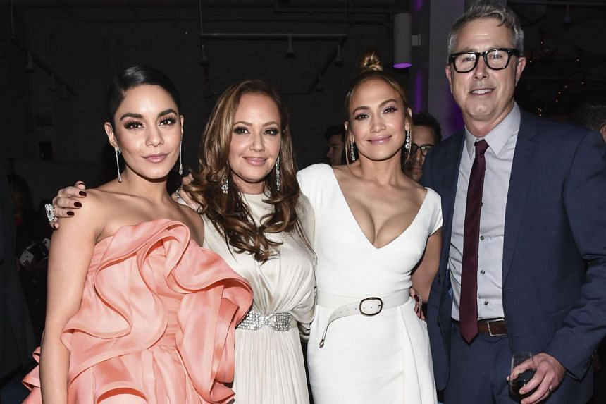 Vanessa Hudgens, Leah Remini, Jennifer Lopez and director Peter Segal attend the 'Second Act' World Premiere After Party at West Edge on Dec 12, 2018 in New York City.
