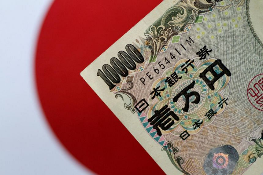 Japan's currency rose as much as 3.7 per cent to 104.87 in early Asian trading, the highest level since March 26.