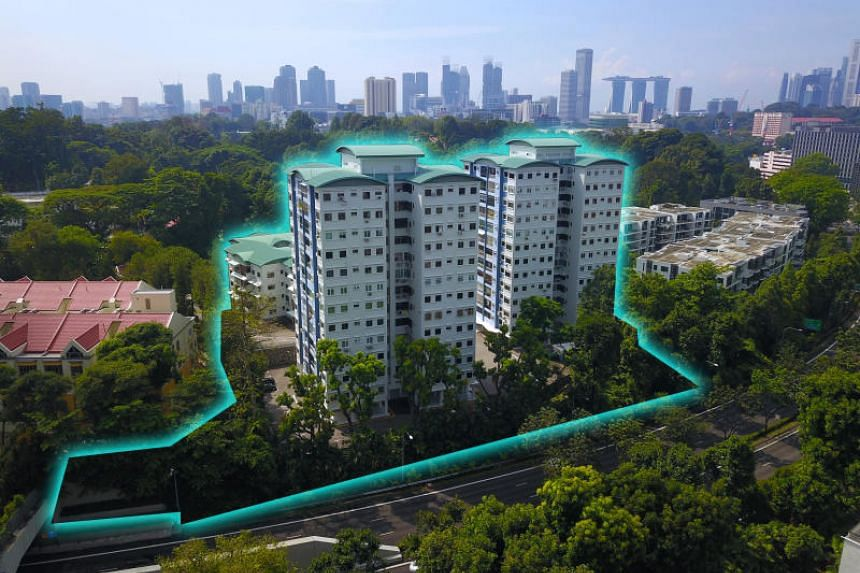 JLL said the site can be redeveloped for 400 apartment units with an estimated average size of about 740 sq ft each.
