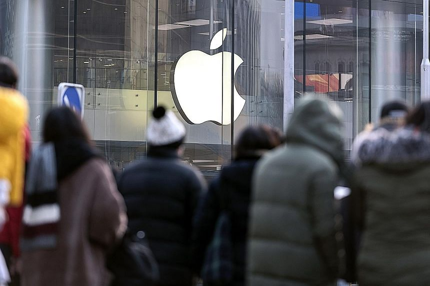 Apple's sales warning stoked global growth fears, with most markets across Asia ending lower yesterday. European markets opened weak, led by companies with exposure to China. The US tech giant lost US$55 billion (S$75 billion) - or nearly 8 per cent