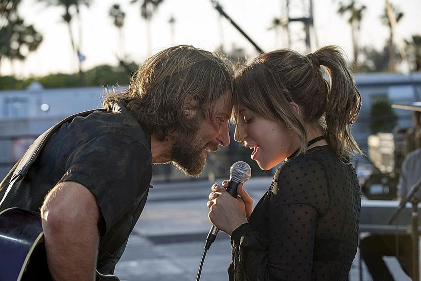 A Star Is Born's Lady Gaga and Bradley Cooper (both left) are up for Best Actress and Actor in a Movie - Drama while Olivia Colman in The Favourite (above) is contending for Best Actress in a Movie - Musical or Comedy.