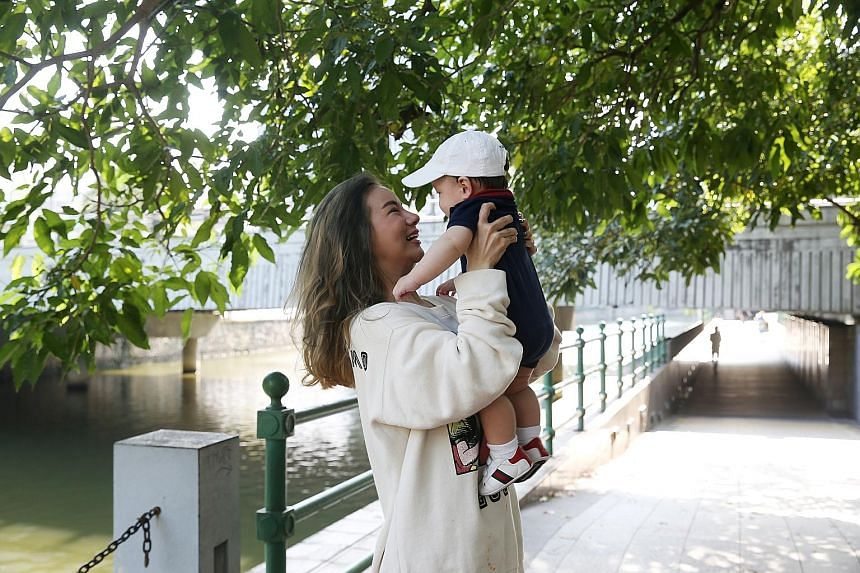 """""""A person can have hundreds of thousands of 'friends' on social media, but more importantly, it is about finding a few true friends in real life."""" - KIM LIM (with her son Kyden)"""