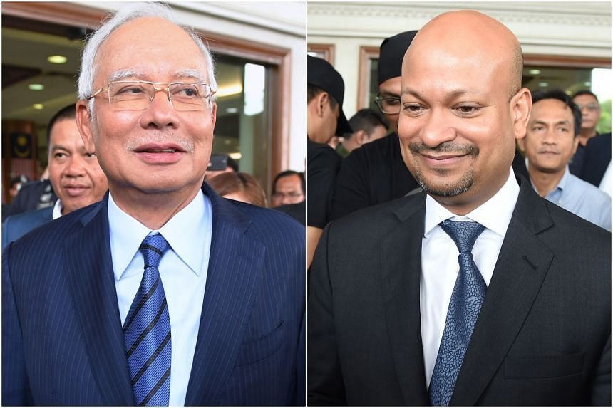 Former Malaysia prime minister Najib Tun Razak (left) and former 1Malaysia Development Bhd (1MDB) chief Arul Kanda Kandasamy are being charged for alleged tampering of 1MDB's final audit report.