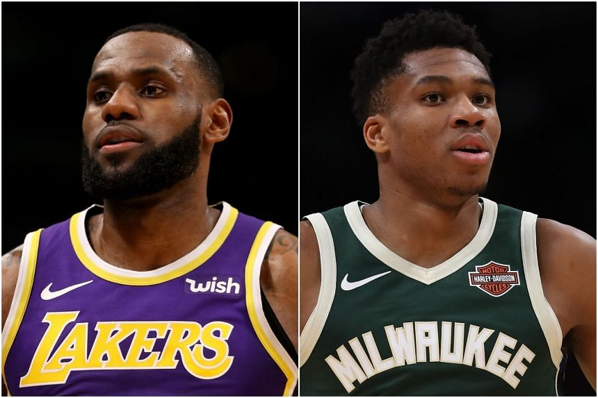 Los Angeles Lakers' LeBron James received the most votes with 1,083,363 to pace the Western Conference frontcourt while Milwaukee Bucks forward Giannis Antetokounmpo led the Eastern Conference with 991,561 votes in the first fan ballot returns.