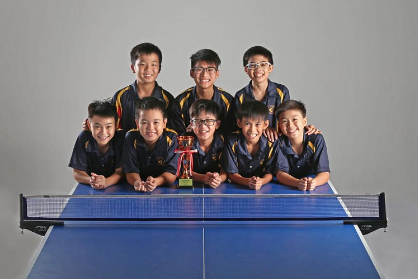 The ACS (Barker Road) C Division squad comprises: (front row from left) Silas Chua, Ryan Chong,  Ethan Ong, Ryan Eng and Benjamin Wee, and (back row from left) Ethan Chua, Ryan Tan and Seth Wong.