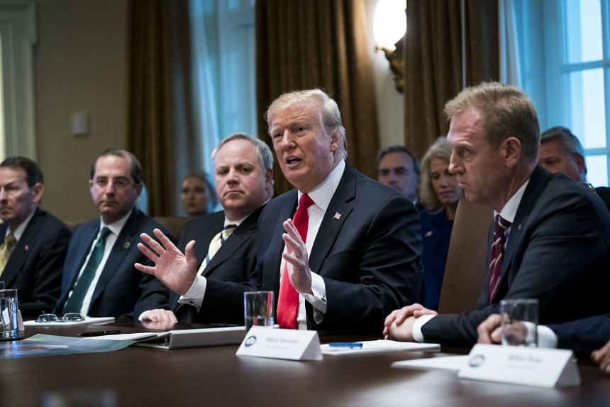 President Donald Trump meets with his Cabinet at the White House in Washington, Jan 2, 2019.