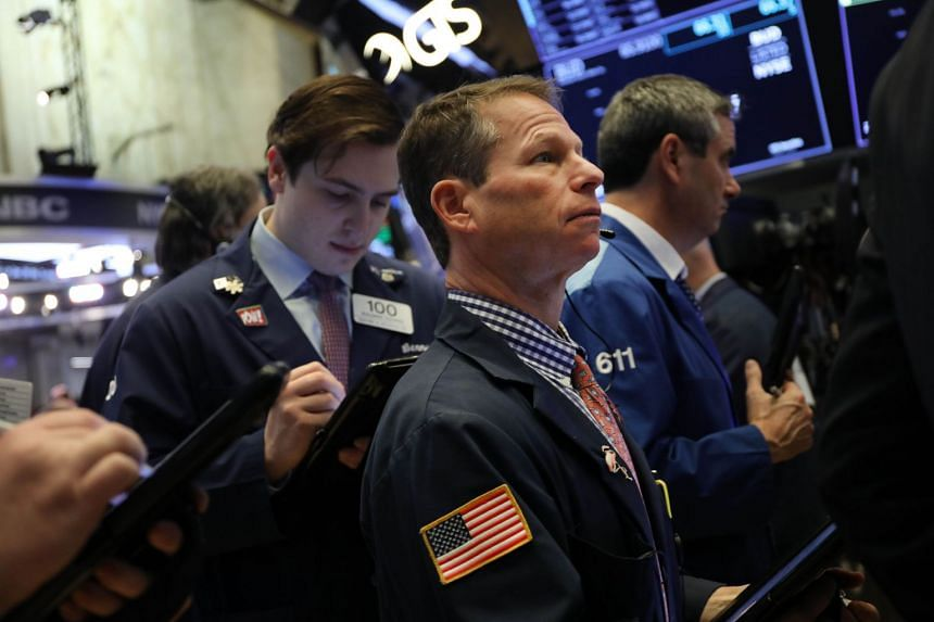 Traders work on the floor of the New York Stock Exchange on Jan 3, 2019.