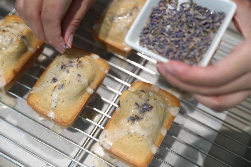 Ms Tan paired lavender with Earl Grey tea and adapted a lemon pound cake recipe she found online.