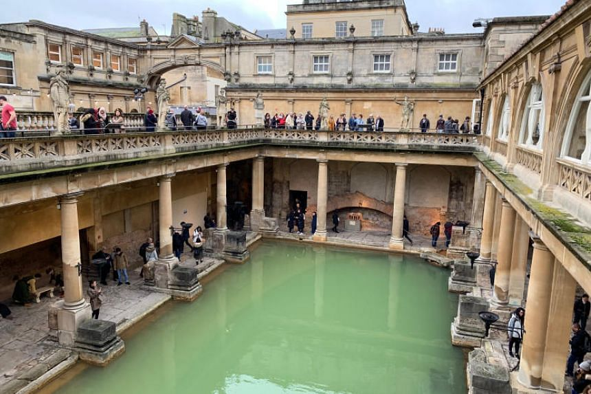 The Roman Baths in Bath is now equipped with a fancy multimedia museum.