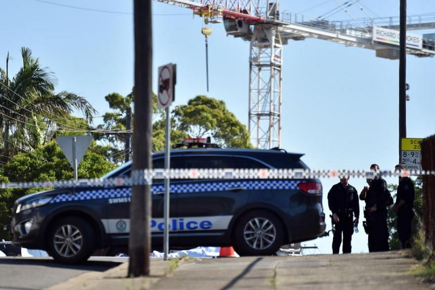 Police at the scene of a stabbing incident in Sydney, on Jan 4, 2019. Police did not identify the attacker or give further details.