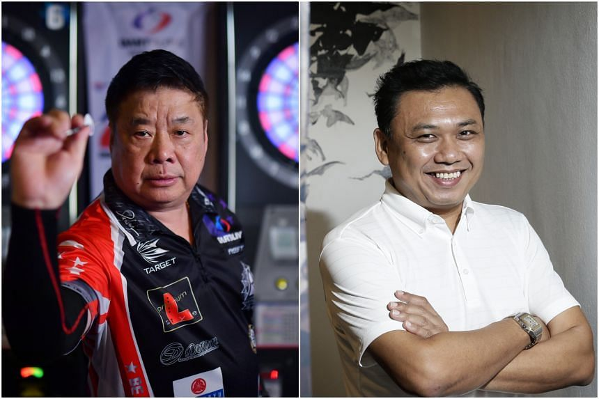 Singapore's leading darters, Paul Lim (left) and Harith Lim.