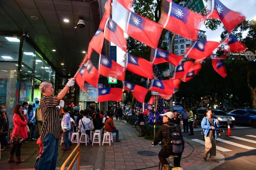 """The China-friendly Kuomintang said in a statement that the """"one country, two systems"""" framework adopted before Hong Kong's return from British rule was unacceptable for Taiwan, because it lacked public support."""