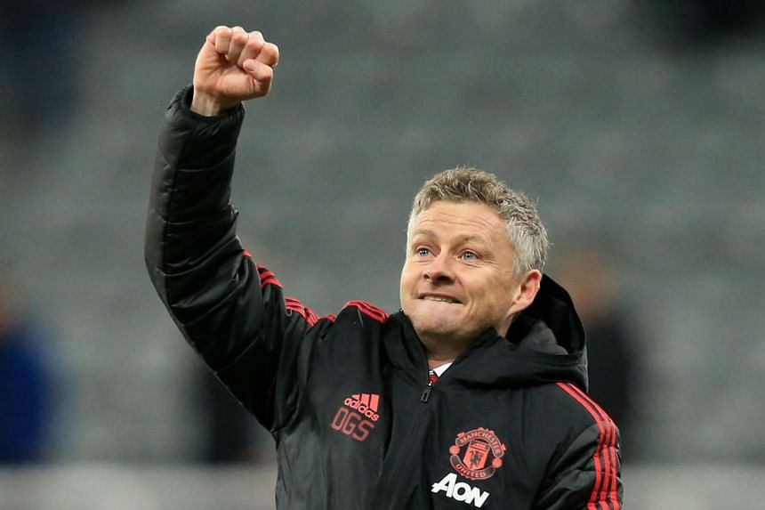 Manchester United's Norwegian caretaker manager Ole Gunnar Solskjaer during the English Premier League football match between Newcastle United and Manchester United at St James' Park in Newcastle-upon-Tyne, north east England, on Jan 2, 2019.