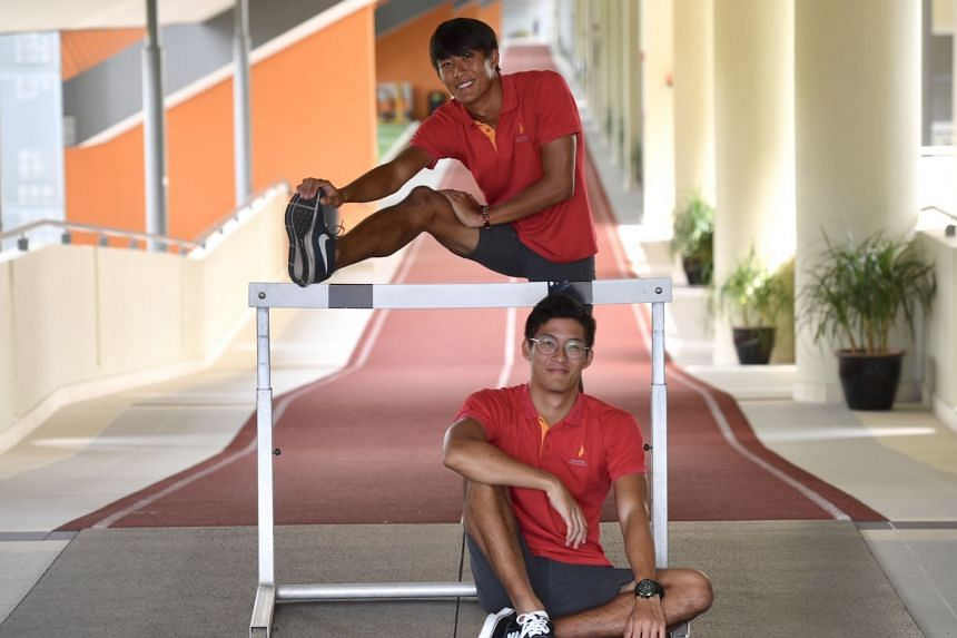 Chong Wei Guan (top) is a hurdler while Wei Kit is a high jumper. Wei Kit says their mother, who is a single parent, is a huge inspiration.