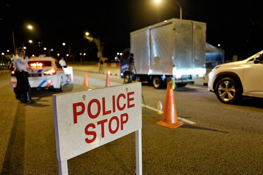 Four men and one woman failed breathalyser tests when they were stopped by police.