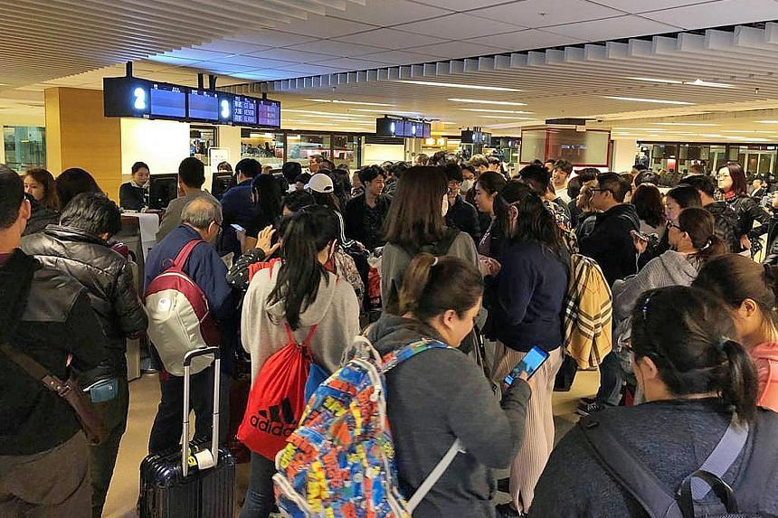 Left: More than 300 passengers on a Singapore-bound Scoot flight on Dec 18 remained stranded in Greece after a technical fault led to multiple delays. Right: Passengers on Flight TR899 were supposed to depart Taipei on Dec 30 at 4.10pm, but arrived i