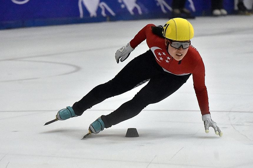Singapore speed skater Cheyenne Goh won the women's 500m and 1,500m events at the SEA Open Short Track Trophy at the Rink@JCube yesterday. The 19-year-old, who was the Republic's first Winter Olympian in Pyeongchang, South Korea, last year, also beat