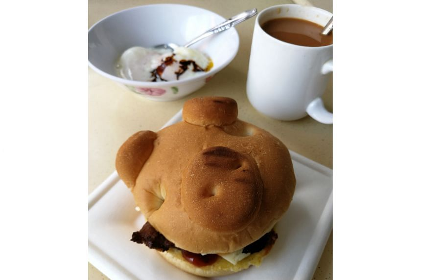 Get the set and the bun comes with two soft-boiled eggs and a cup of hot coffee or tea.
