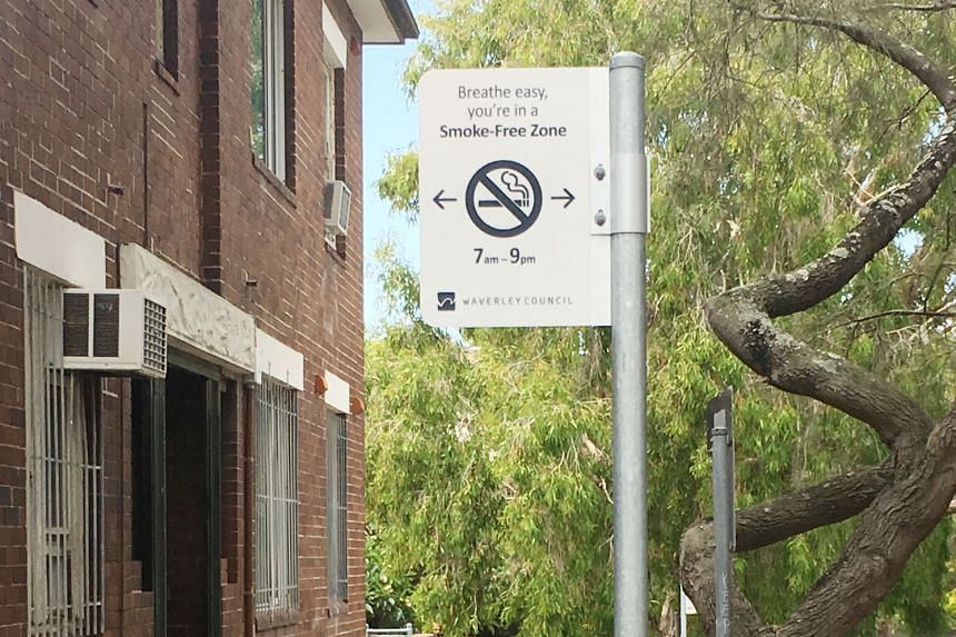 No-smoking signs can be seen across Australia, at shopping centres, beaches and cafes, and around public buildings.