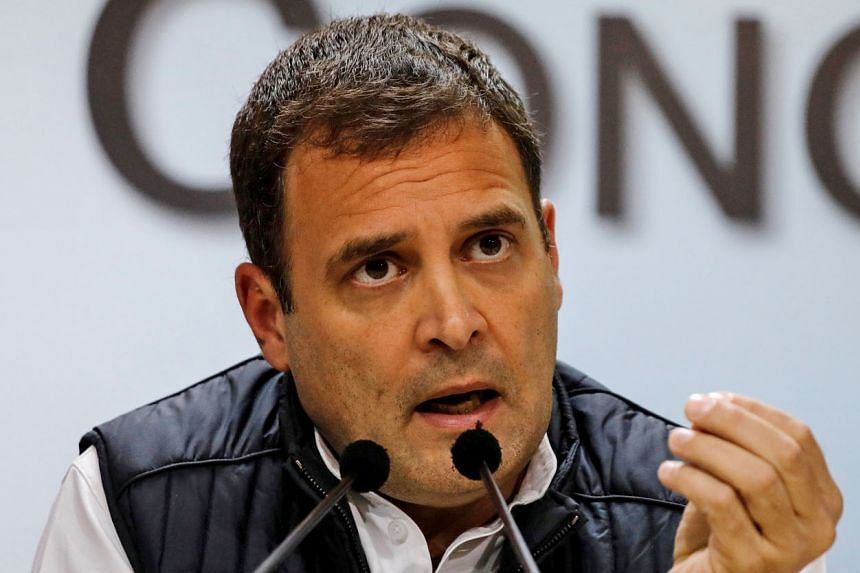 """Congress president Rahul Gandhi called a journalist who interviewed Prime Minister Narendra Modi """"pliable""""."""