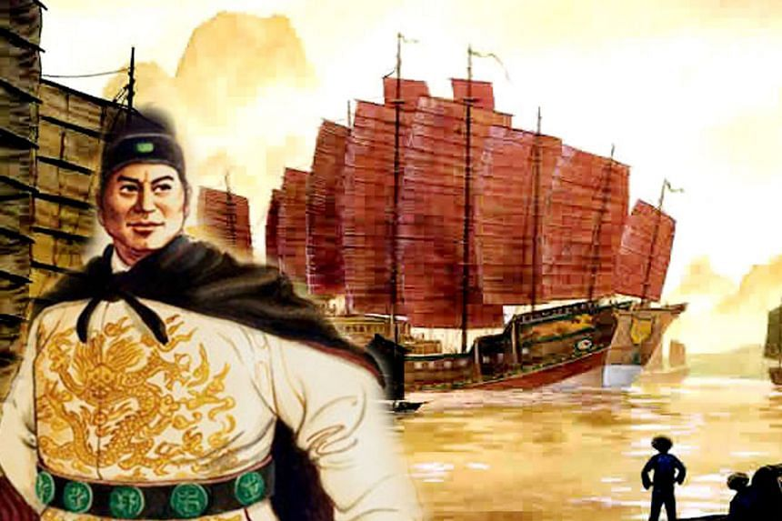 A drawing of Admiral Zheng He. During the Ming Dynasty, the admiral, a distant descendant of a Song-era Muslim Persian migrant, led the Ming's famous maritime voyages as far as Africa. Colonialism's mix of capitalism, technology and manpower gave are