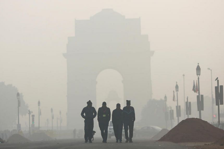 Despite rain clearing the air in New Delhi, the air quality continues to be five times more than a US government recommended level of pollution.