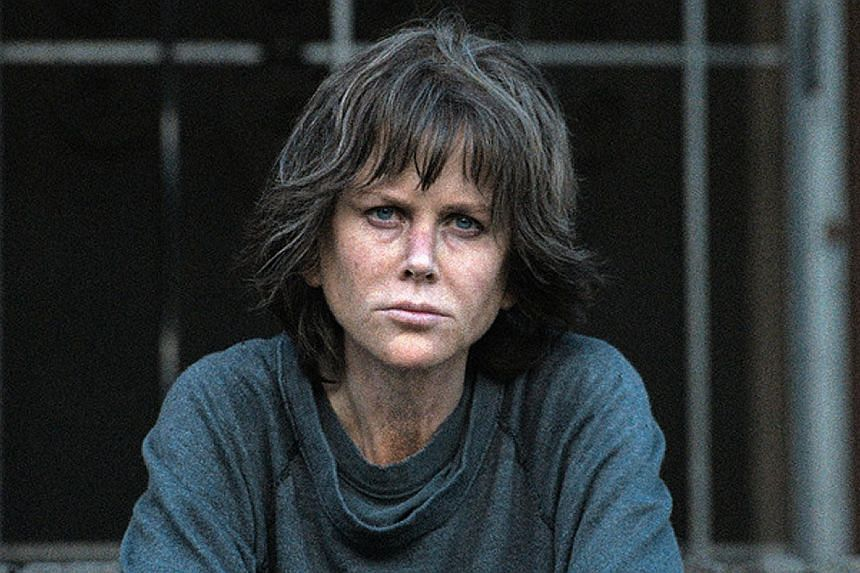 Nicole Kidman plays Erin Bell, an aggressive detective worn down by tragedy, in Destroyer.
