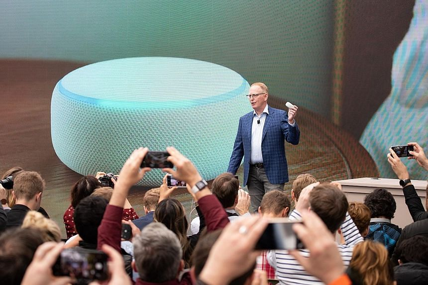Amazon's senior vice-president for devices and services Dave Limp announcing last September that Apple Music will be available for Amazon's Alexa-powered speakers.