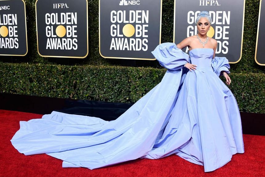 Lady Gaga arriving at the 76th Annual Golden Globe Awards at The Beverly Hilton Hotel, on Jan 6, 2019.