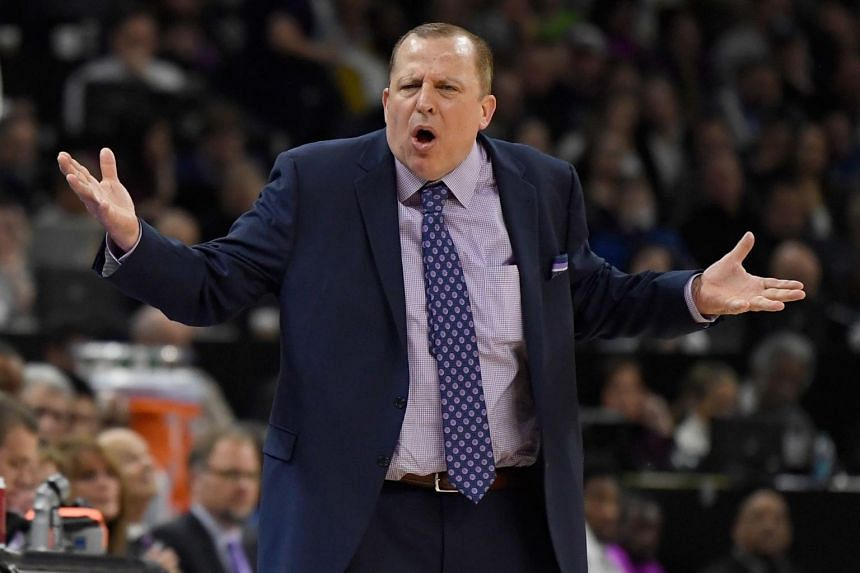 Tom Thibodeau was notified of the decision following the Timberwolves 108-86 blowout win over the Los Angeles Lakers.