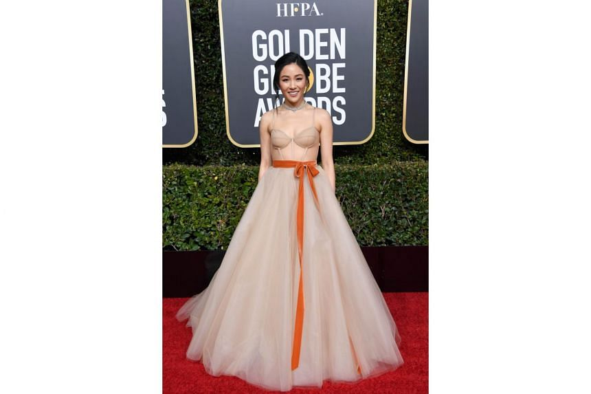 Crazy Rich Asians actress Constance Wu arriving at the 76th Annual Golden Globe Awards at The Beverly Hilton Hotel, on Jan 6, 2019.