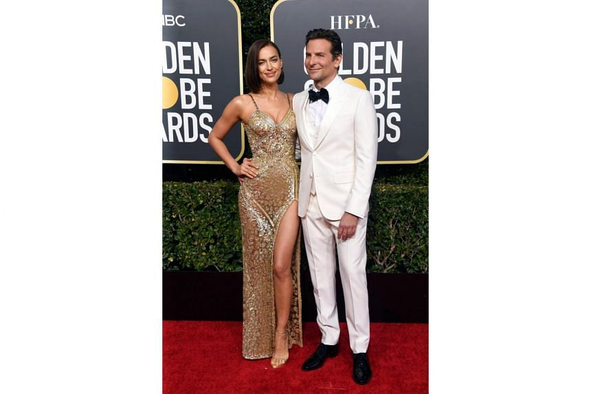 Irina Shayk and Bradley Cooper arriving at the 76th Annual Golden Globe Awards at The Beverly Hilton Hotel, on Jan 6, 2019.