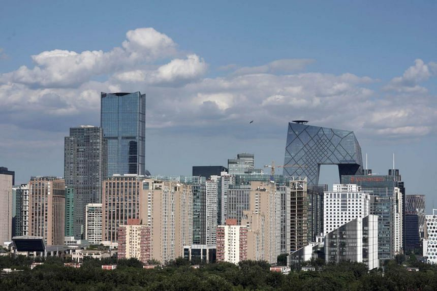 The skyline of Beijing's central business district on Sept 7, 2018. China is currently trying to avert a sharp economic slowdown.
