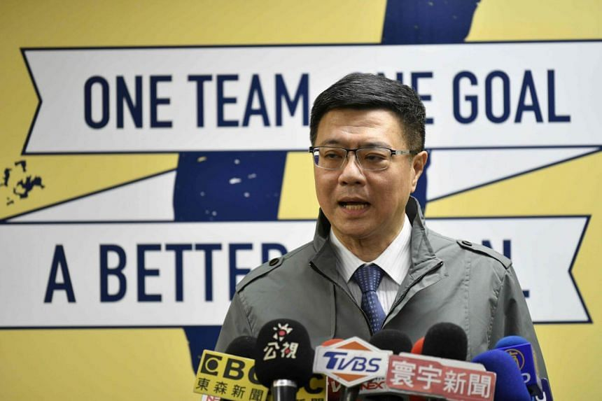 Newly-elected Chairman of the Democratic Progressive Party Cho Jung-tai speaks at a press conference at the party headquarters in Taipei, on Jan 6, 2019.