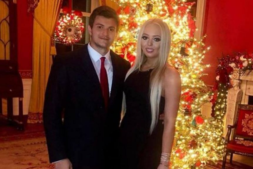 Ms Tiffany Trump arm-in-arm with Mr Michael Boulos, a businessman from a Lebanese family that owns several businesses in Nigeria.
