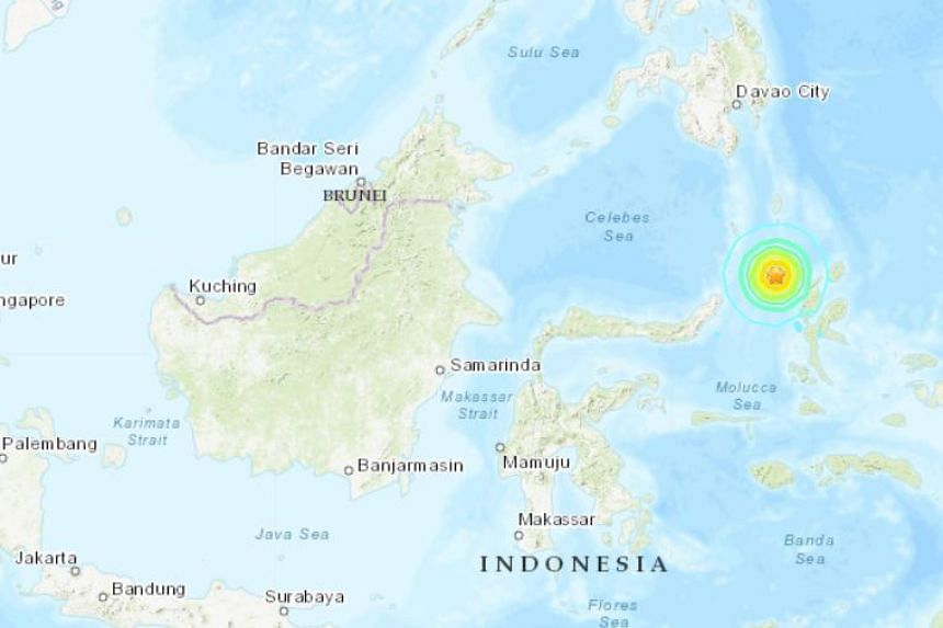 The quake hit at a depth of 60 kilometres under the Molucca Sea.