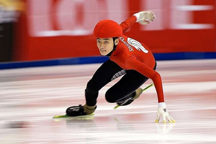 Speed skater Trevor Tan will put his studies on hold for a year.