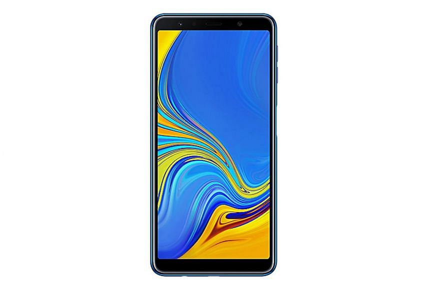 Samung's latest Galaxy A7, released late last year, is priced at a relatively modest $428, or roughly half the price of the flagship Galaxy S9.
