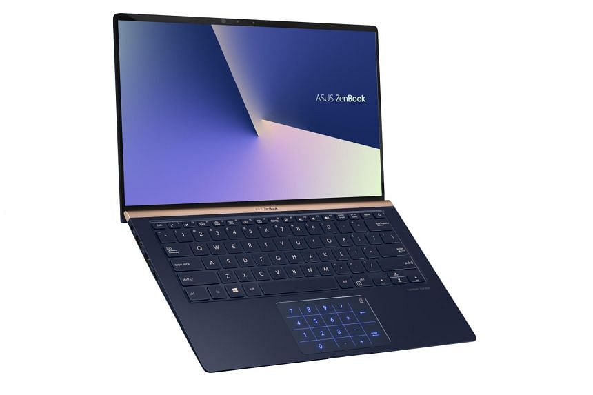 The ZenBook 14 (UX433) ultrabook's touchpad doubles up as a numeric keypad, a feature that is usually missing from compact laptops.